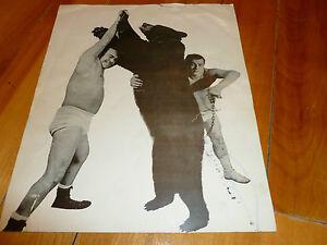 BEAR-OURS-TONY-ROSS-YVON-BEAUDET-PHOTO-VINTAGE-WRESTLING-LUTTE-1960-70-039-s