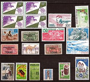 Tchad-15-Stamps-1bloc-New-Satellites-Concorde-Charles-Lindberg-Various-F63