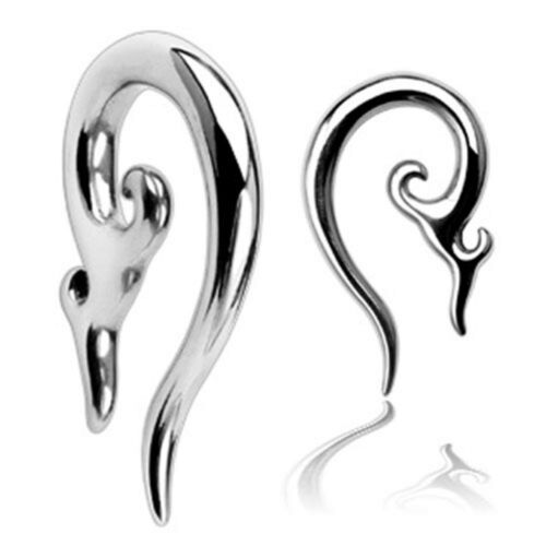 Pair of 316L Surgical Steel Tribal Taper Long Tail Earrings E375