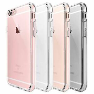 For-Apple-iPhone-6S-6-Case-Clear-Hybrid-Slim-Shockproof-Soft-TPU-Bumper-Cover