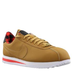 Nike-Cortez-Basic-Premium-844791-700-Wheat-LT-Crimson-White-Plaid-Mens-Shoes