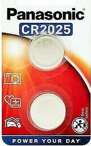 Panasonic CR2025 Lithium Coin Cell 3V Battery Car Key Fobs Toys Remote Pack of 2