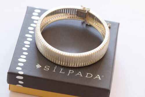 Silpada Colosseum Sterling Silver Flexible Bangle Bracelet B3011 Ret $329