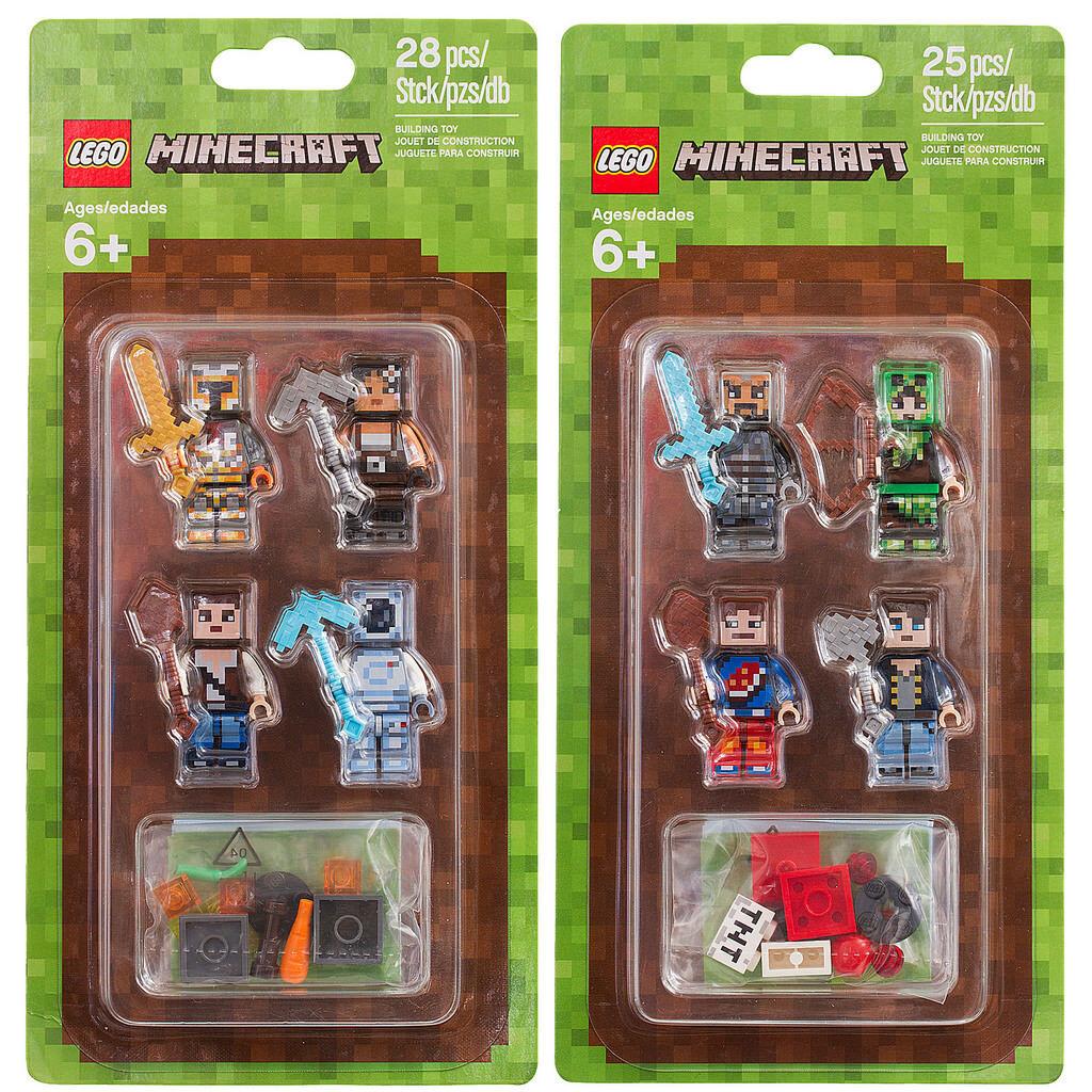 Lego Lego Lego Minecraft enveloppes Set 2 853610 et 853609 enveloppes Set 1 8 Minifiguren n18 24cf3f