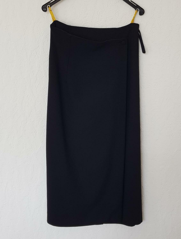 121D) Maxim Skirt Black Wrap Effect Size 36