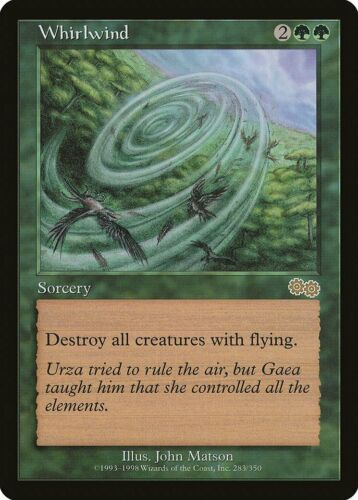 Whirlwind Urza/'s Saga HEAVILY PLD Green Rare MAGIC THE GATHERING CARD ABUGames