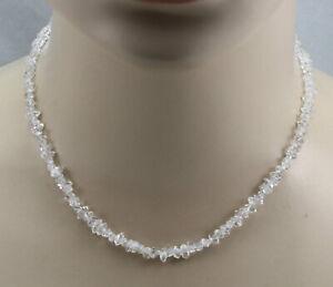 Bergkristall-Kette-Bergkristall-Doppelender-Herkimer-Diamant-Halskette-43-cm