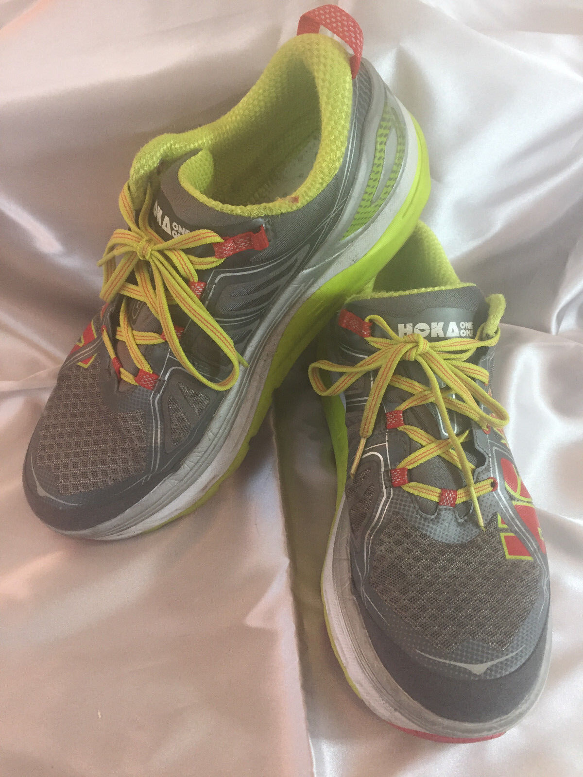Women's Hoka One One Constant 2 Grey Acid 1009641 GAC Running shoes Size 10.5