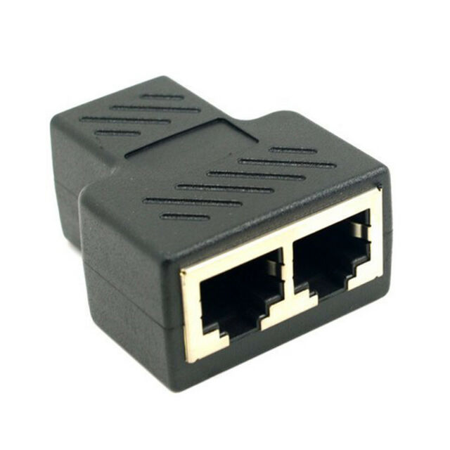 2 x RJ45 CAT5 Coupler Plug Network LAN Cable Extender Connector Adapter/_WK