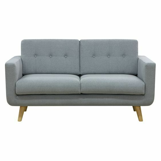 NEW Zanui Larsen Light Grey 2 Seater Sofa