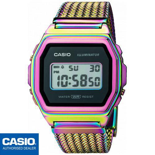 CASIO A1000PRW-1ER⎪ORIGINAL⎪VINTAGE ICONIC⎪RAINBOW IP BAND⎪LIMITED EDITION