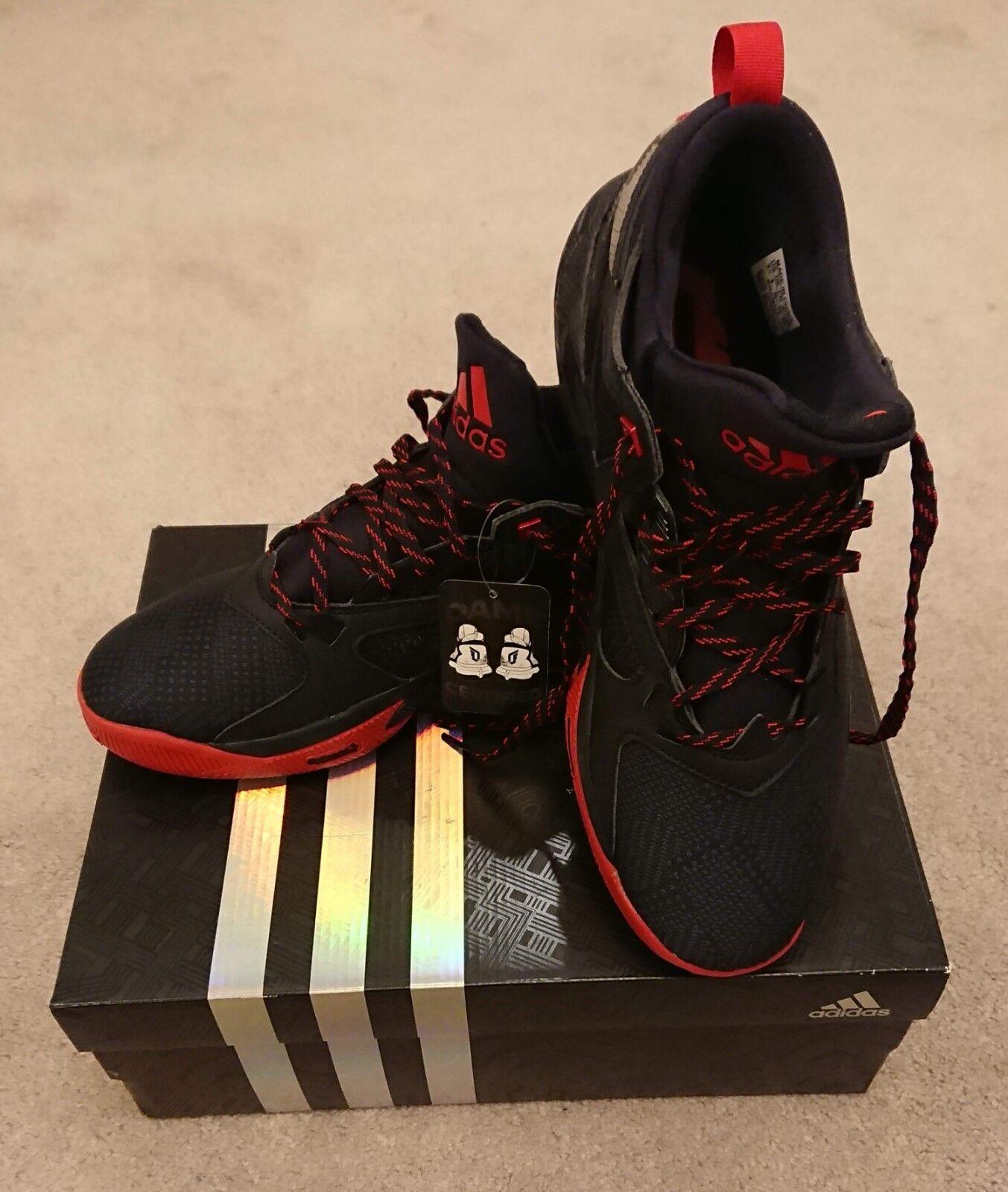 Adidas D D Adidas Lillard 2 F37124 Red Scarlet Black Dame Damian Basketball Shoe sz 9.5 84c686