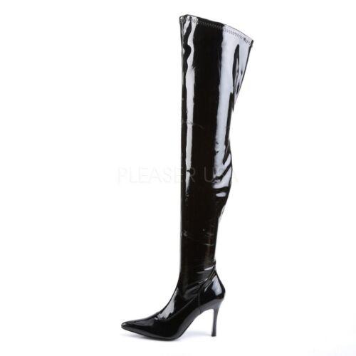 Lust Funtasma 3000 Stiefel Overknee Schwarz Stretch Lack qgF8zwE
