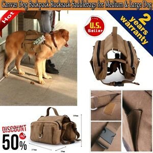 NEW-Pet-Dog-Outdoor-Travel-Hiking-Camping-Bag-Backpack-Harness-Canvas-Rucksack