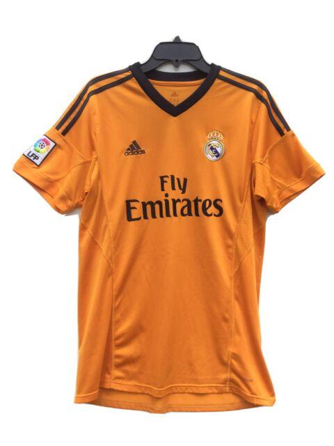 Vtg adidas Real Madrid 2013-14 3rd Soccer Jersey Sz L Orange ...