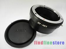 Adapter for Contax Yashica CY C/Y Lens to Sony NEX 3 NEX 5 NEX 7 NEX C3 5C + CAP