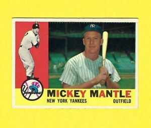 Mickey-Mantle-1960-Topps-350-New-York-Yankees-EX
