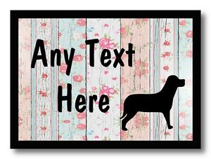Dog Shabby Wood Personalised Dinner Table Placemat