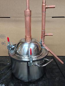 Copper Alcohol Moonshine Ethanol Still E 85 Reflux Hd3