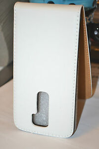 For-LG-G2-White-Genuine-Real-Leather-Flip-Phone-Mobile-Case-Cover