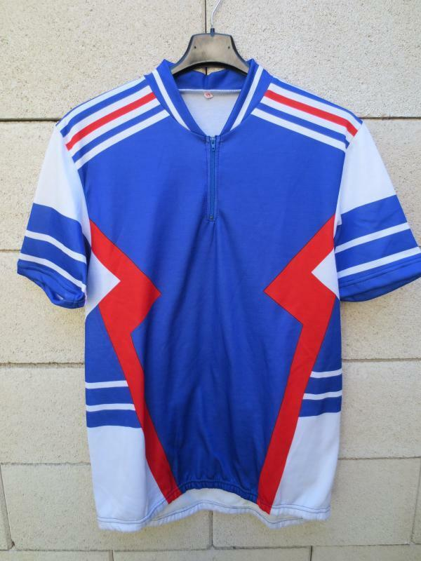 Maillot cycliste EQUIPE de FRANCE collector vintage cycling shirt XL