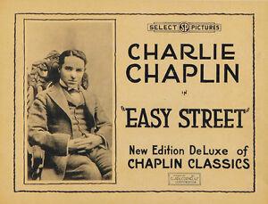 Easy Street (1917) Charlie Chaplin movie poster print 2