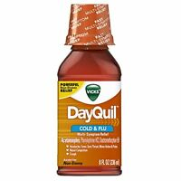 Vicks Dayquil Cold And Flu Relief Original Flavor Liquid, 8oz Each on sale