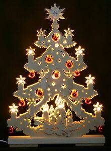 3D-Schwibbogen-LED-Tanne-Tannenbaum-mit-Kugeln-44cm-Erzgebirge-Weihnachten-Holz