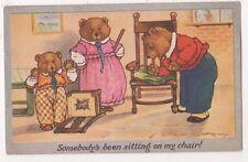 Three Bears, Somebody's Been Sitting On My Chair, A.B. Kennedy Art Postcard B721