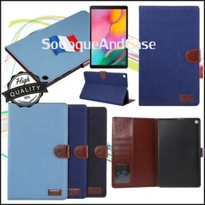 Etui-Coque-Housse-Cloth-Texture-PU-Leather-Case-Samsung-Galaxy-Tab-S5e-Tab-A