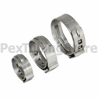 Stainless Steel Pex Clamps (cinch Rings) For Crimp Style Pex Fittings