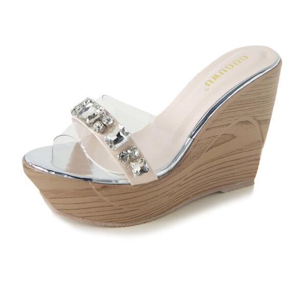 Sandale eleganti sabot zeppa ciabatte 9 silver  comodi simil pelle colorati 9824