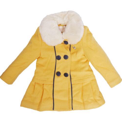 Fashion Enfants Filles Laine Hiver Chaud Casual Coton Épais Veste Manteau