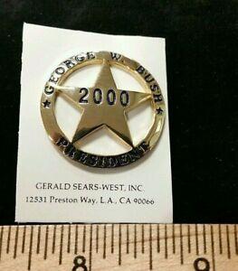 NOS Bush 2000 presidential pin New George W