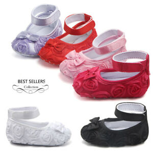 1a1eda69feea9 Princess Baby Girls Mary Jane Shoes Soft Sole Party Ballet Dress ...