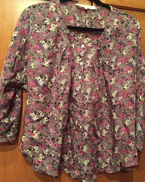 ULLA JOHNSON SZ 4 Silk Floral Print Blouse Top  3 4 Dolman Sleeve