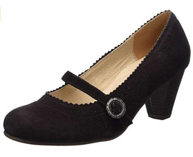 Worn Once Hirschkogel By Andrea Conti 0590437 Women's Black Courts Size 4 EU 37