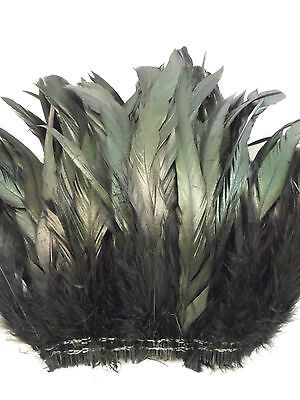 """16g pcs. 80 8-10/"""" half bronze lime green schlappen coque rooster tail feathers"""