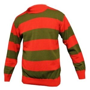 CHILDREN'S RED AND GREEN FANCY DRESS SWEATER FREDDY KRUEGER STYLE ...