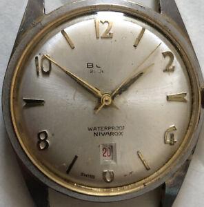 VINTAGE BULER NIVAROX WATCH 1950s 21 Jewel Mechanical Hand Wind Wristwatch Swiss