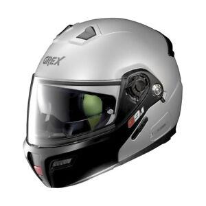 Helmet-Modular-Grex-G9-1-Evolve-Pair-of-N-Com-26-Flat-Silver-Size-M