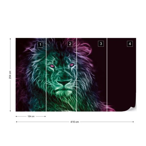 Lion Modern Light Painting Wallpaper Wall Mural Fleece Easy-Install Paper
