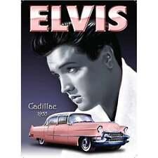 "Original Metal Sign Co Wall Sign Elvis Presley 1955 Cadillac Style 8"" x 6"""