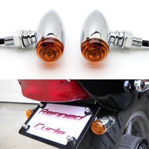 2x motorcycle turn signals lights blinker for harley. Black Bedroom Furniture Sets. Home Design Ideas