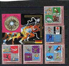 YEMEN ARAB REPUBLIC 1970 OLYMPIC GOLD MEDALS WINNERS/GERMANY 5 STAMPS & S/S MNH