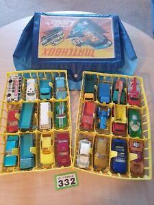 Genuine-originale-vintage-1971-MATCHBOX-valigetta-grande-selezione-di-24-AUTO