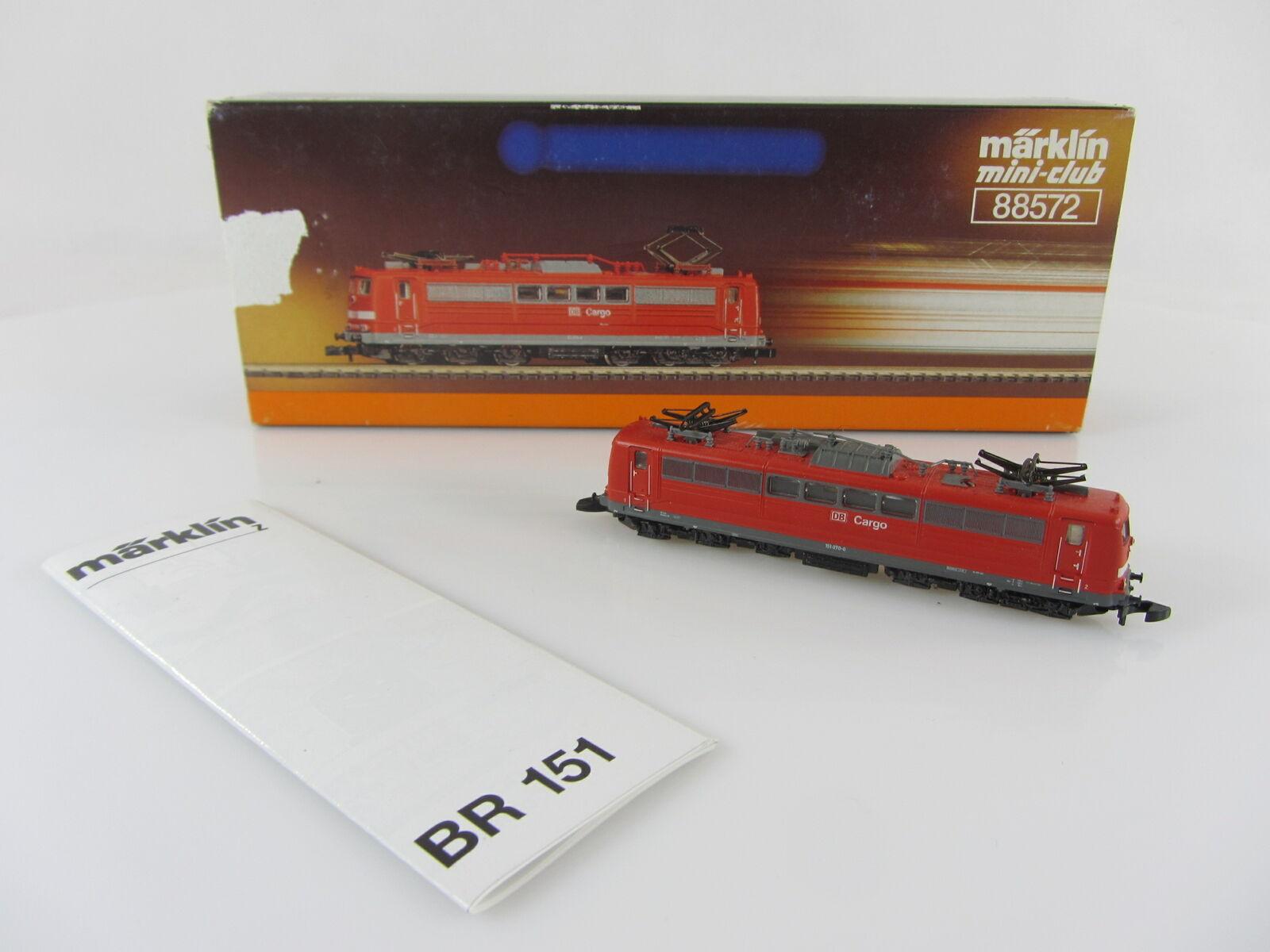 Märklin 88572 88572 88572 Br 151 070-0 der DB Cargo in rot sehr guter Zustand mit OVP 8464c6
