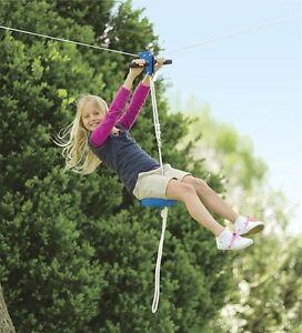 Image Is Loading Kids Zipline Kit Seat Outdoor Backyard Children Flying