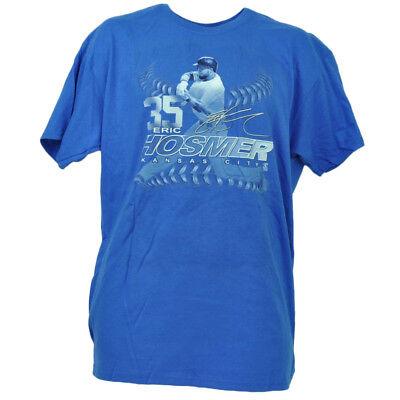 Ehrgeizig Kansas City Royals Eric Hosmer 35 Spieler Autogramm Blau T-shirt Baseball Tropf-Trocken Weitere Ballsportarten