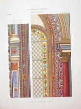 ARCHITECTURE COLOR PRINT : PARIS Paintings & Window in St. Eustache Church